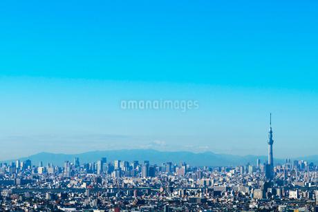 東京スカイツリーと富士山の写真素材 [FYI01669152]