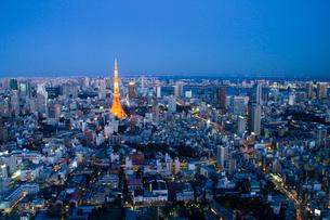 東京タワーの夜景の写真素材 [FYI01669282]