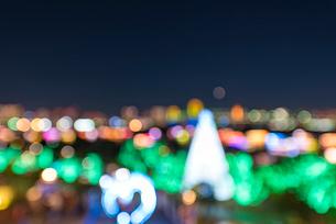 お台場夜景イルミネーション フォーカスブラーの写真素材 [FYI01669486]