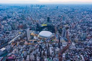 東京ドーム,空撮の写真素材 [FYI01669651]