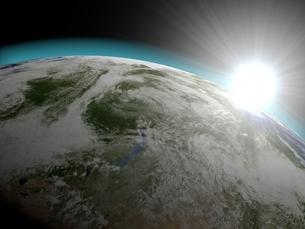 地球と太陽のイラスト素材 [FYI01669675]