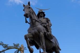 仙台伊達政宗の銅像の写真素材 [FYI01669897]