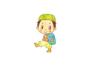 リュックサックを背負った男の子のイラスト素材 [FYI01669920]