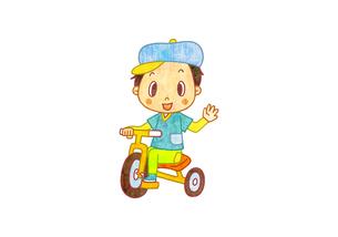 三輪車に乗る男の子のイラスト素材 [FYI01669969]