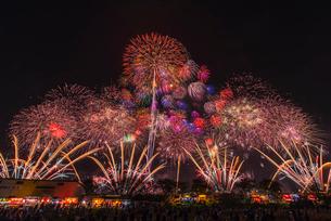 土浦花火づくし 花火競技大会の写真素材 [FYI01670526]