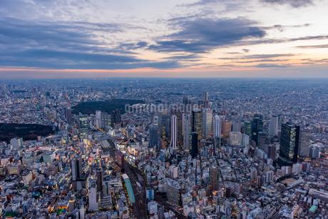 新宿夜景,空撮の写真素材 [FYI01670630]
