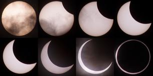 金環日食の移り変わりの写真素材 [FYI01670904]