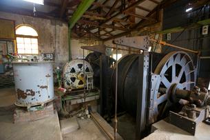 大牟田の三池炭鉱、宮原坑の内部の写真素材 [FYI01671008]