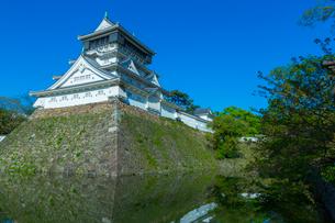 青空に映える小倉城の写真素材 [FYI01671116]