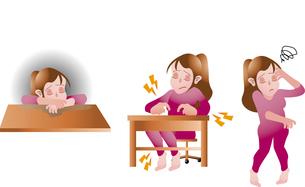 女性のメンタルヘルス うつ イライラ めまいのイラスト素材 [FYI01671186]