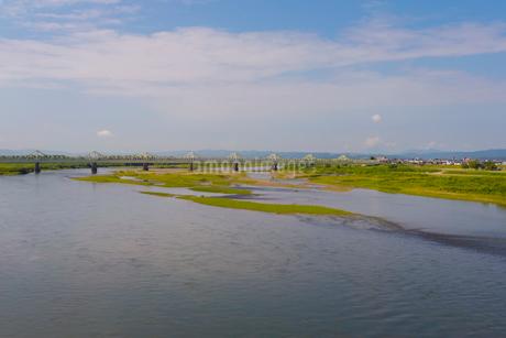 大手大橋から見た信濃川の写真素材 [FYI01671214]