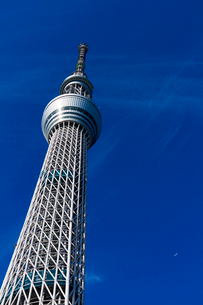 東京スカイツリーと青空の写真素材 [FYI01671280]