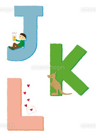 アルファベットJKLのイラスト素材 [FYI01671862]