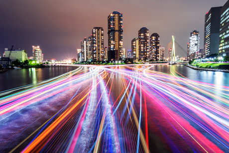 東京ウォーターフロントの夜景の写真素材 [FYI01671892]