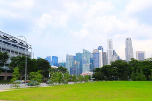 シンガポールの高層ビル街の写真素材 [FYI01672635]