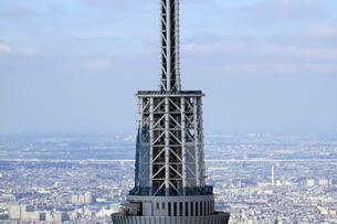 東京スカイツリーの空撮の写真素材 [FYI01672638]