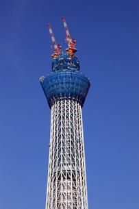 東京スカイツリーの中腹から上部分の写真素材 [FYI01672840]