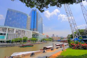 シンガポール川とクラーク・キー周辺の風景の写真素材 [FYI01672918]