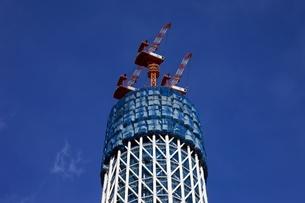 東京スカイツリーの先端の望遠の写真素材 [FYI01672935]