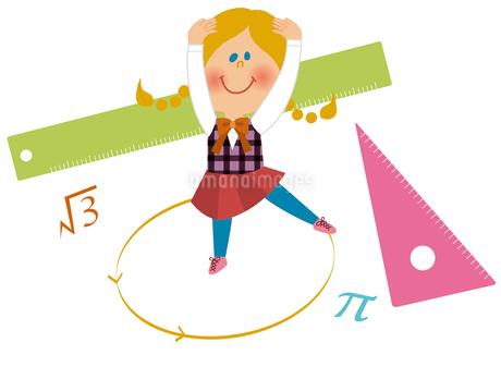 数学少女のイラスト素材 [FYI01673110]