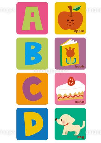 アルファベット ABCDのイラスト素材 [FYI01673140]