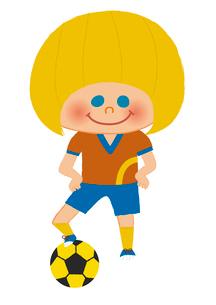 サッカー少年のイラスト素材 [FYI01673149]
