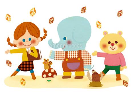 秋のダンスのイラスト素材 [FYI01673198]