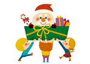 サンタさんをプレゼントのイラスト素材 [FYI01673212]