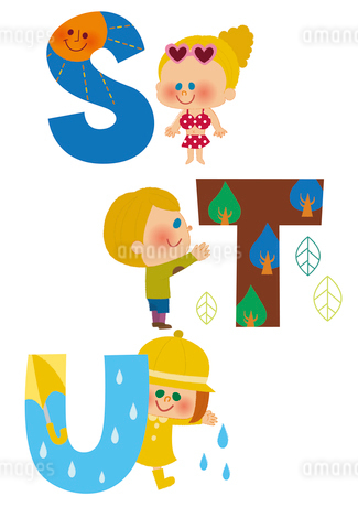 アルファベット STUのイラスト素材 [FYI01673221]