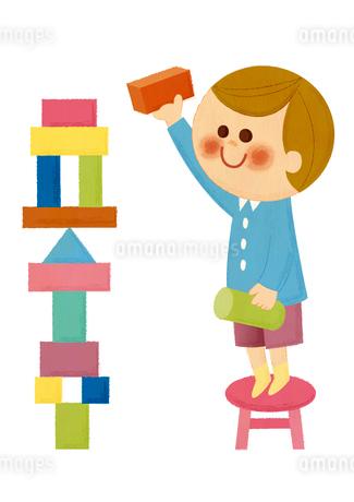 積み木遊びのイラスト素材 [FYI01673233]