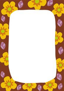 黄色い花のフレームのイラスト素材 [FYI01673283]