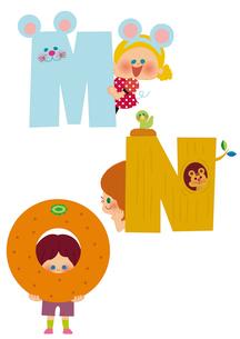 アルファベット MNOのイラスト素材 [FYI01673296]