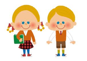 男の子と女の子のイラスト素材 [FYI01673313]