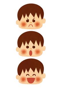 男の子 表情のイラスト素材 [FYI01673387]