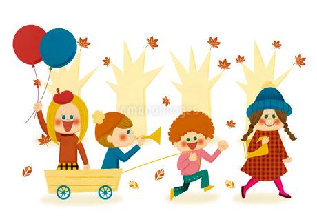 秋のパレードのイラスト素材 [FYI01673453]