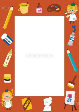 美術のフレームのイラスト素材 [FYI01673537]
