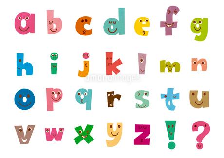 顔入りアルファベット(小文字)のイラスト素材 [FYI01673812]