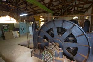 大牟田の三池炭鉱、宮原坑の内部の写真素材 [FYI01674003]