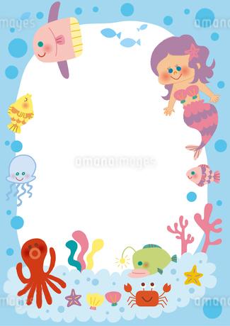 海のフレームのイラスト素材 [FYI01674122]