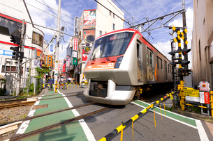 東急大井町線電車の写真素材 [FYI01674220]