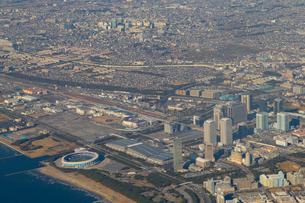 飛行機から見た千葉県幕張の写真素材 [FYI01674415]