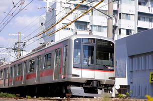 東急東横線電車の写真素材 [FYI01674749]