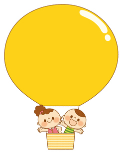 気球と子どもたちのイラスト素材 [FYI01675288]