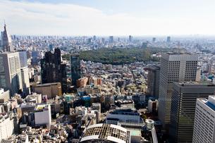 新宿センタービル53階展望室からの眺めの写真素材 [FYI01677430]