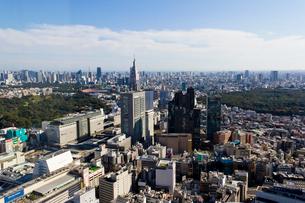 新宿センタービル53階展望室からの眺めの写真素材 [FYI01677608]