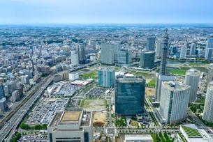 ランドマークタワー展望台からの眺め(横浜駅方面)の写真素材 [FYI01678721]