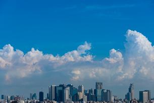 新宿高層ビル群と積乱雲の写真素材 [FYI01678847]