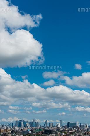 夏の空(新宿方面・縦)の写真素材 [FYI01678879]