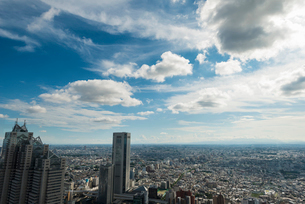 都庁舎展望室からの眺め(西方面)の写真素材 [FYI01678885]
