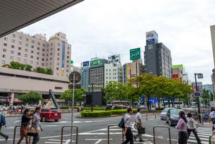 博多駅・筑紫口・駅前の写真素材 [FYI01679098]